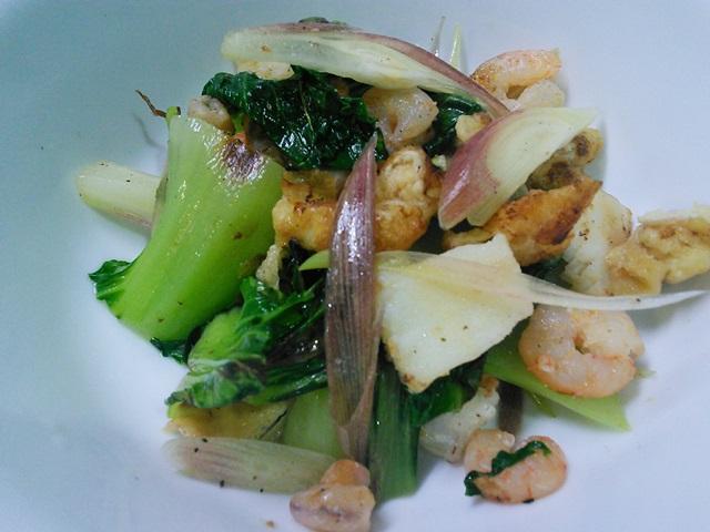 海鮮ミックスとみょうがのポン酢サラダ