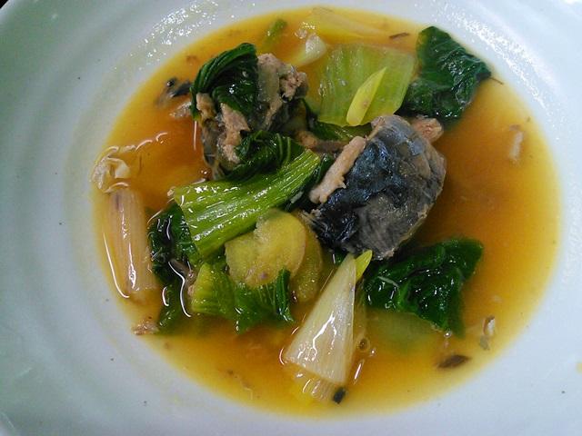 鯖缶と青梗菜の炒め
