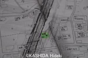 有泉さん宅とリニアルート地図