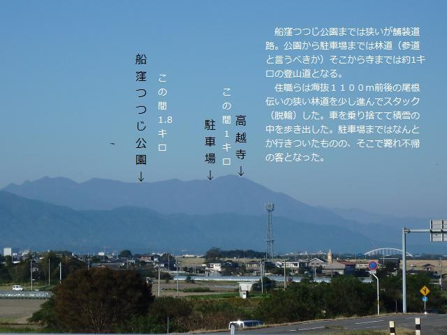 石井町の六条大橋から高越山を眺める