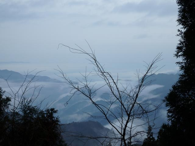雲海のようなものが見られた