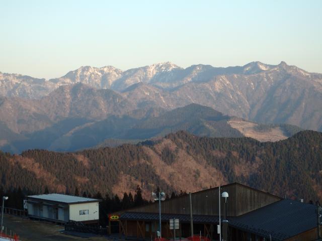 朝焼けの矢筈山