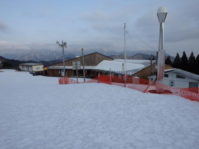 スキー場の施設は全部閉鎖状態