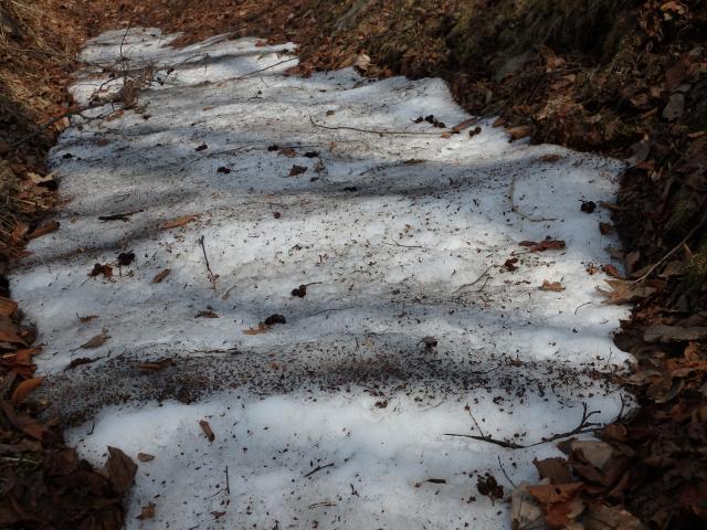 残雪があった