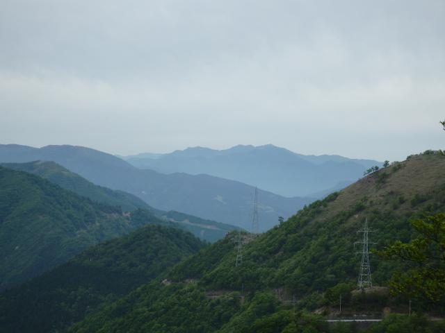 矢筈山を遠望