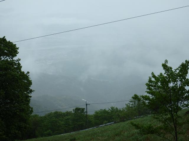 海抜880m付近から吉野川を俯瞰する