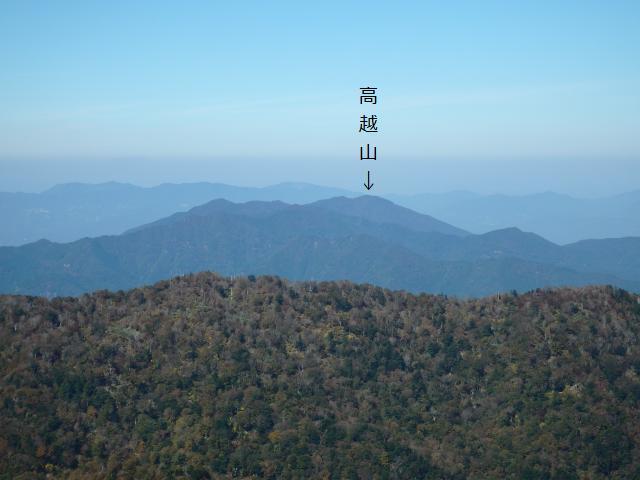 高城山から見下ろした高越山
