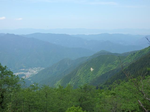 神山町の街並が谷底に見える