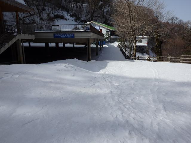 登山リフトも雪に埋まる