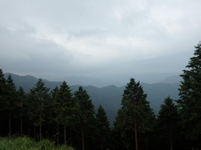 今日は剣山は雲の中