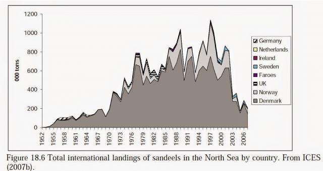 北海でのイカナゴ漁獲の崩壊!