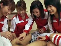 女子バレー部の長身痴女に全く歯が立たない小男柔道部員
