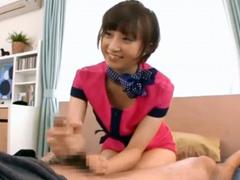 美女エステティシャンのオイルヌルヌルの極上手コキの溜めたザーメンを一気に発射!