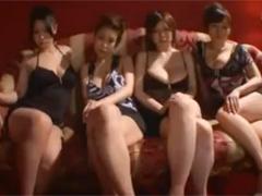 KカップJカップIカップ×2の100cm越え超爆乳痴女4人の全身パイズリで昇天