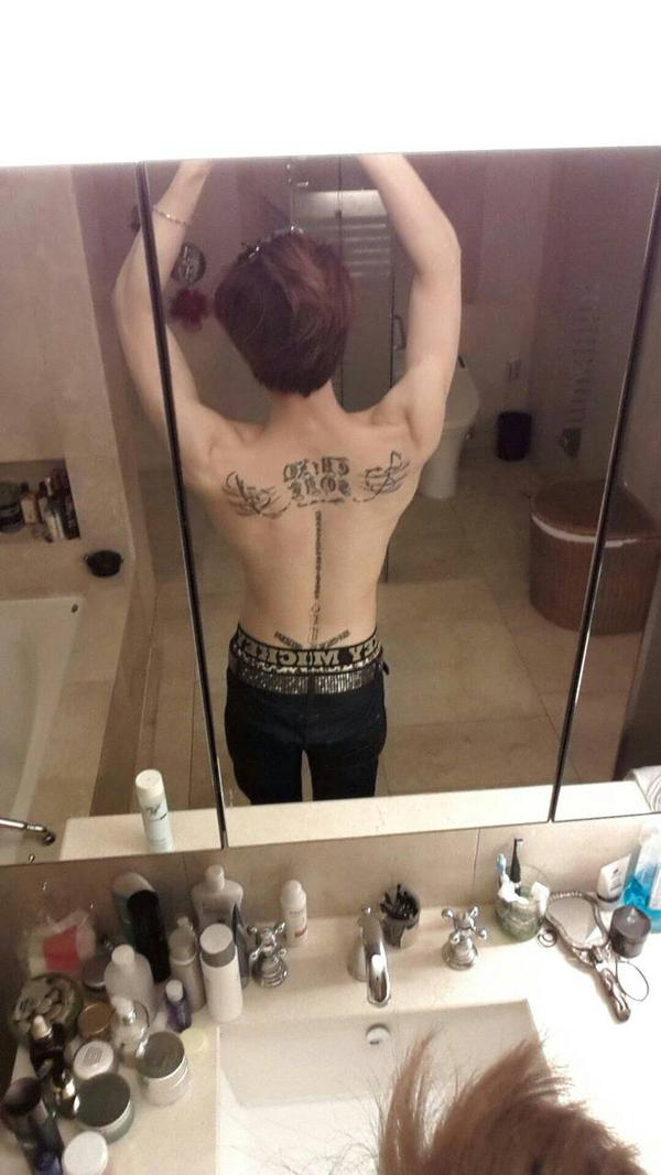 jj back tatoo