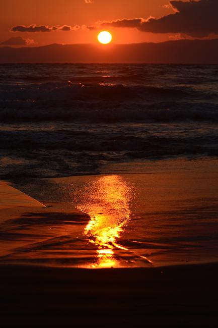 砂に映った太陽2