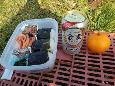 12.28外で昼ご飯