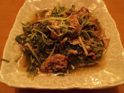 12.28水菜と鯖缶の煮付け