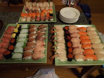 12.31寿司盛り