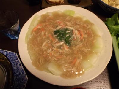 12.31青梗菜の蟹餡かけ