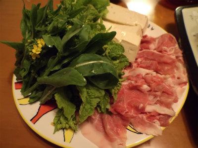 2.22豚肉と菜の花のしゃぶしゃぶ1
