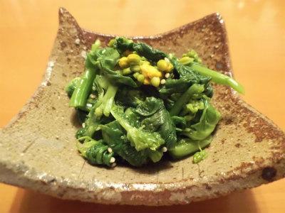 4.1菜花の辛子合え