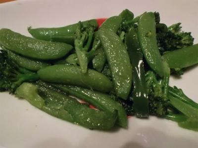 4.7スナップ豌豆炒め