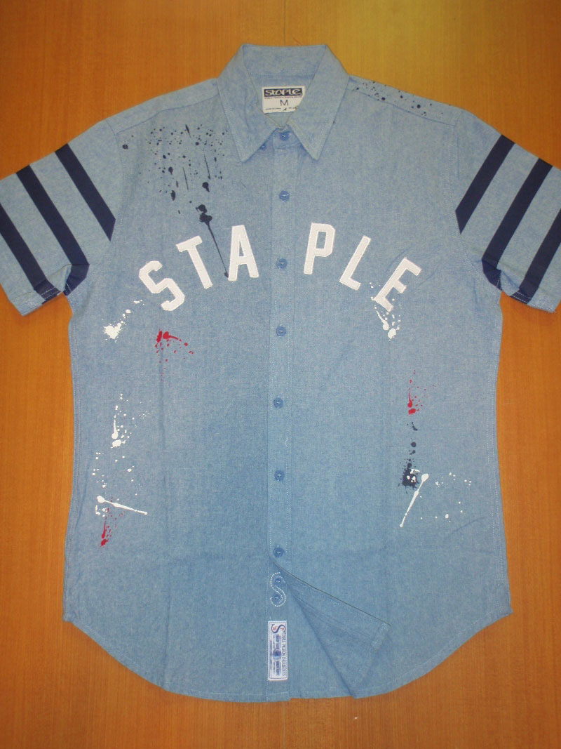 STAPLE Summer 2015 CHAMBRAY WOVEN shirt シャツ STREETWISE ストリートワイズ 神奈川 湘南 藤沢 スケート ファッション ストリートファッション ストリートブランド