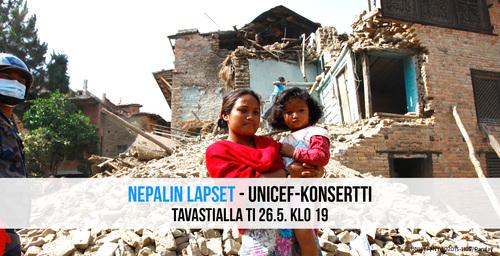 Nepal Tukikonsertti Tavastia Unicef