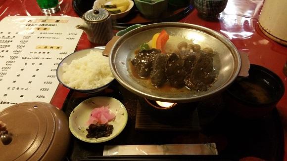 鯨陶板焼定食
