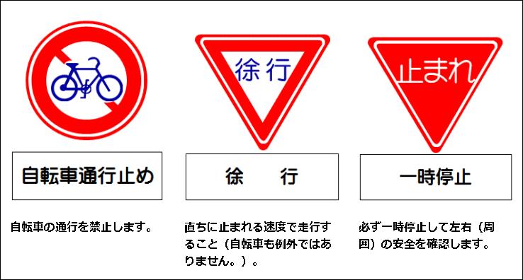 自転車 標識2