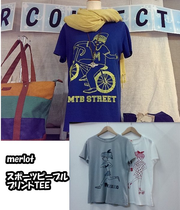 merlot スポーツピープルプリントTEE ¥2100+税
