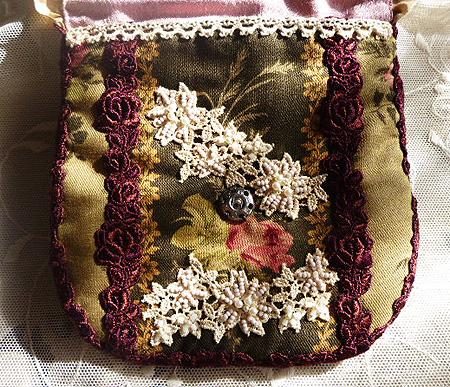 ヴィクトリアン刺繍 ポ-チ 3