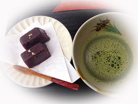 手作り羊羹&お抹茶