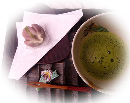 菖蒲・お抹茶