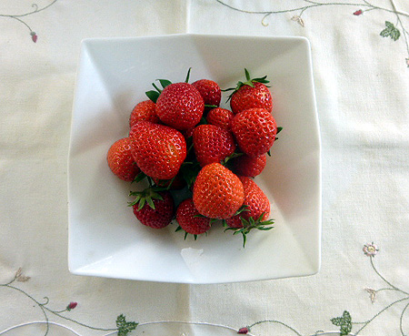 今朝のイチゴ