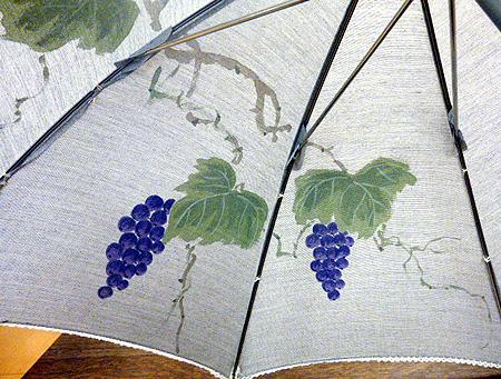 葡萄手書き日傘