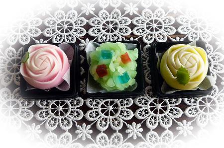 和菓子にも紫陽花が