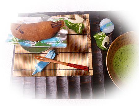 鮎 & お抹茶