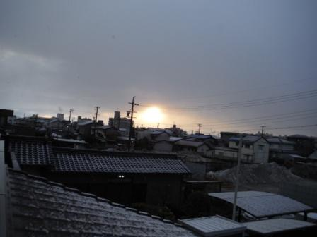 初日の出雪