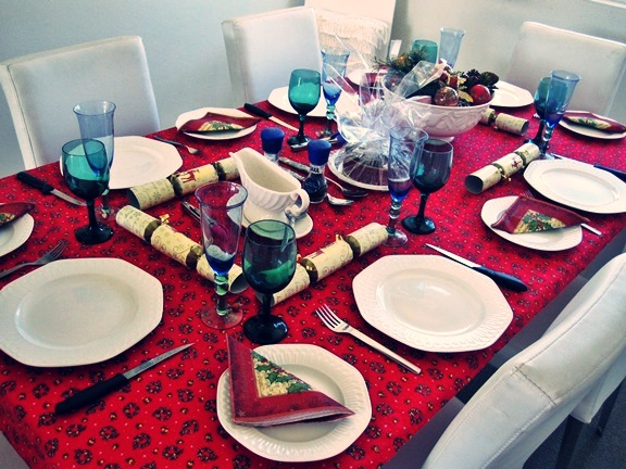 Christmas table blue2