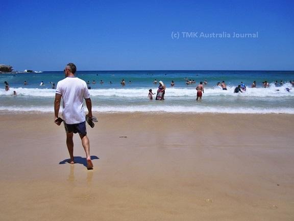 Mike at Bondi beach blue