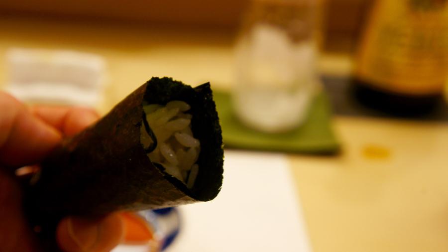 広島菜の手巻き