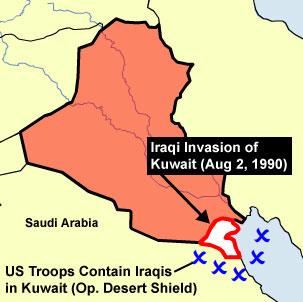 湾岸戦争(の前のイラク侵攻)image