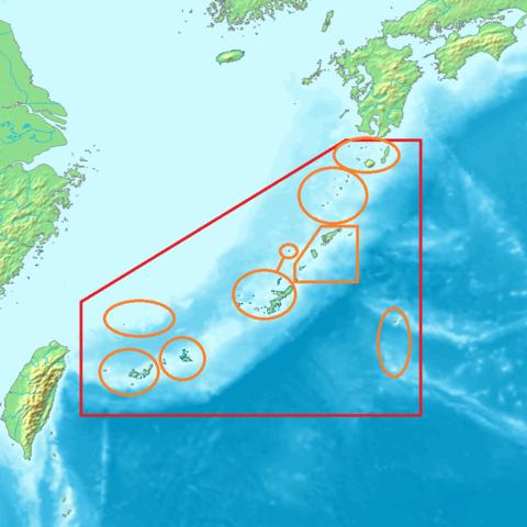 故事(余談の南西諸島地図)image