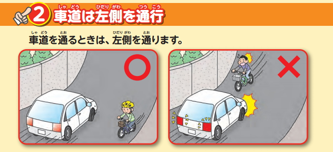 自転車左走行