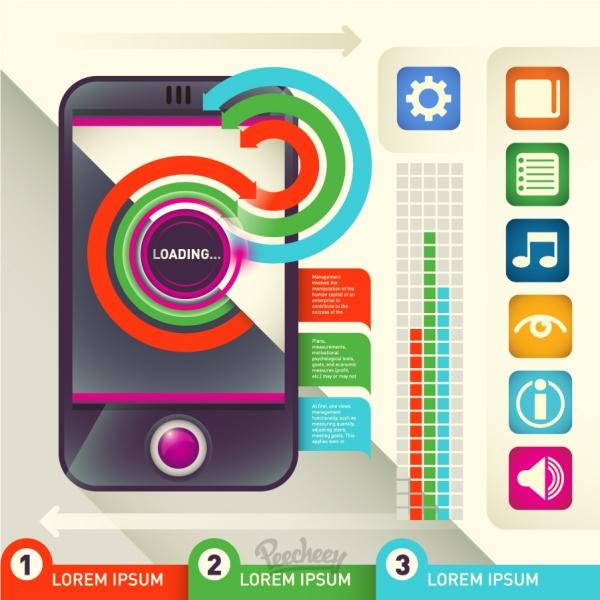 携帯電話のインフォグラフィックス Phone infographic