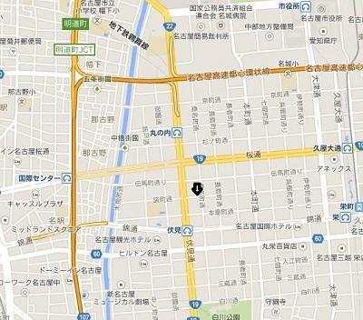 レンタルスペースCOMINIルーム1地図