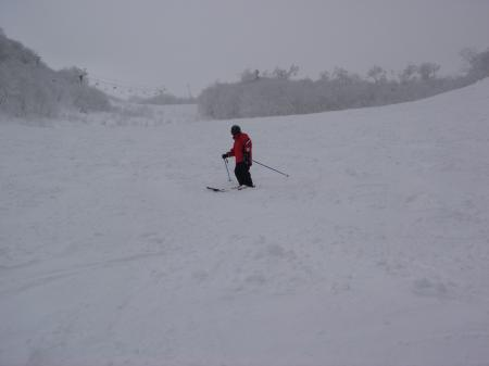 雪質はイマイチ…