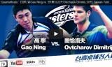 オフチャロフVSガオニン(準々)台湾卓球名人戦2015